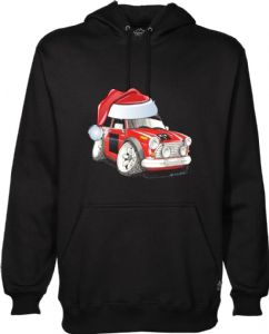 XMAS KOOLART SANTA HAT CHRISTMAS Design For Classic Mini Cooper S Works Hoodie Hooded Top